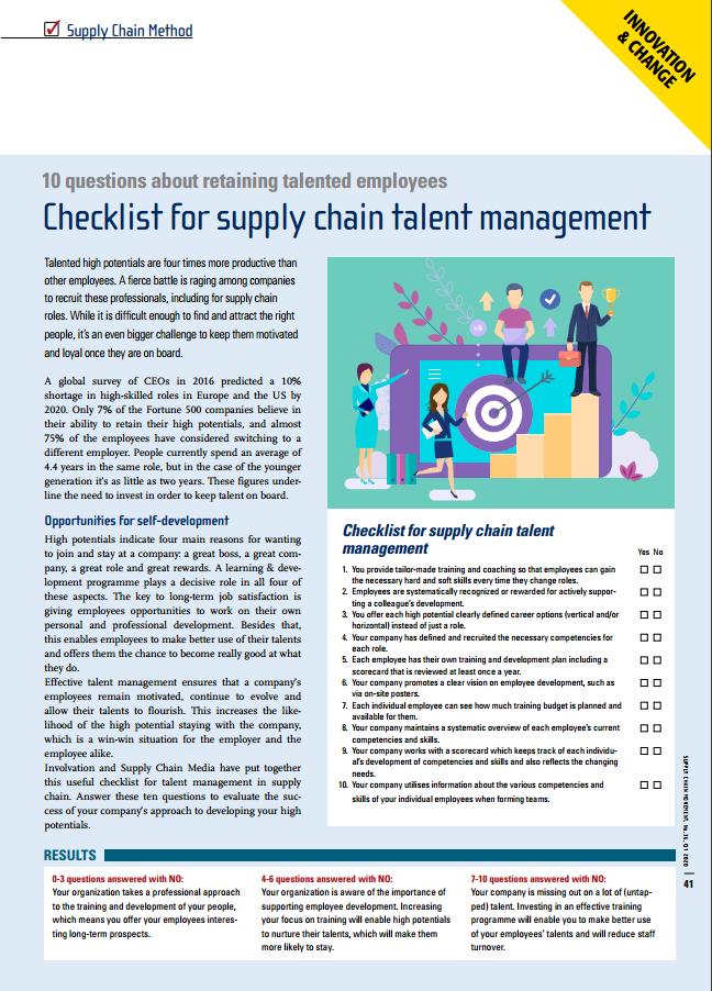 checklist talentmanagement